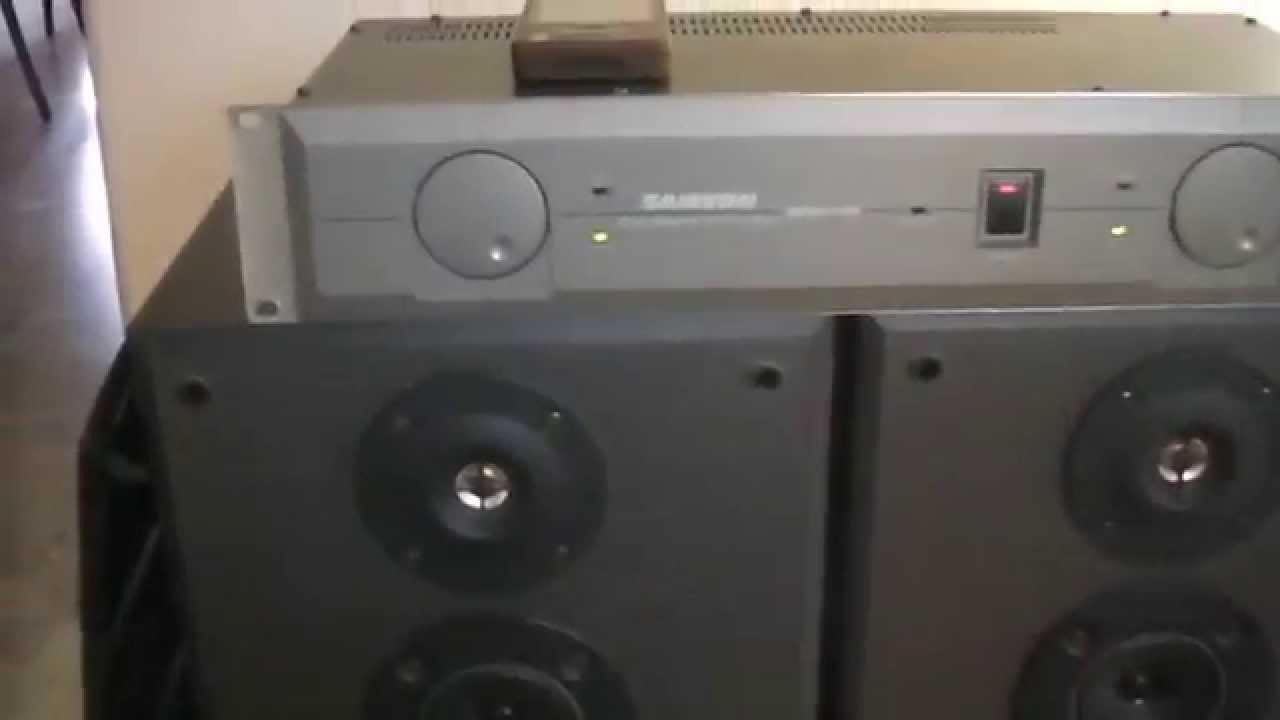 samson servo 150 studio power amplifier sony ss mb215 bookshelf speakers youtube. Black Bedroom Furniture Sets. Home Design Ideas
