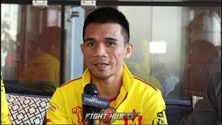 "SRISAKET SOR RUNGVISAI ""ESTRADA GOT INJURED BECAUSE OF MY PUNCHES! REMATCH WILL BE EASIER!"""