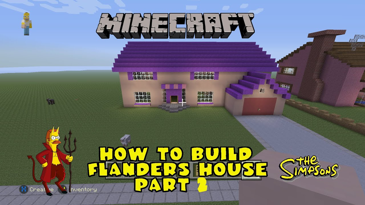 minecraft how to build the flanders house part 2 youtube. Black Bedroom Furniture Sets. Home Design Ideas