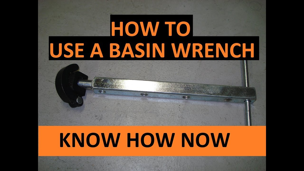 How To Use A Basin Wrench Youtube