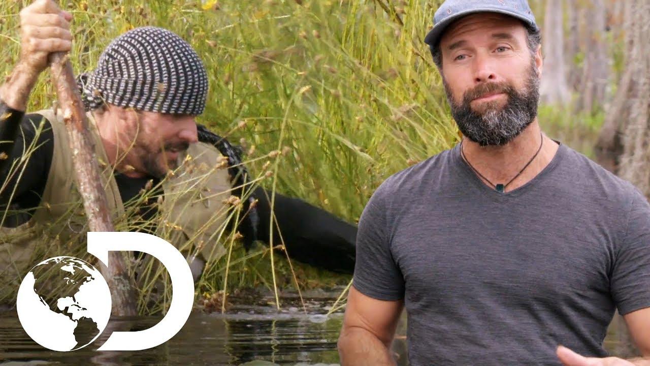 Joe cae en terreno flotante | Desafío x 2 | Discovery Latinoamérica