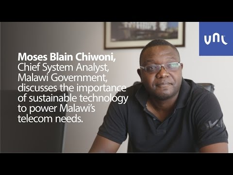 Moses Blain Chiwoni talks about sustainable technology in Malawi.