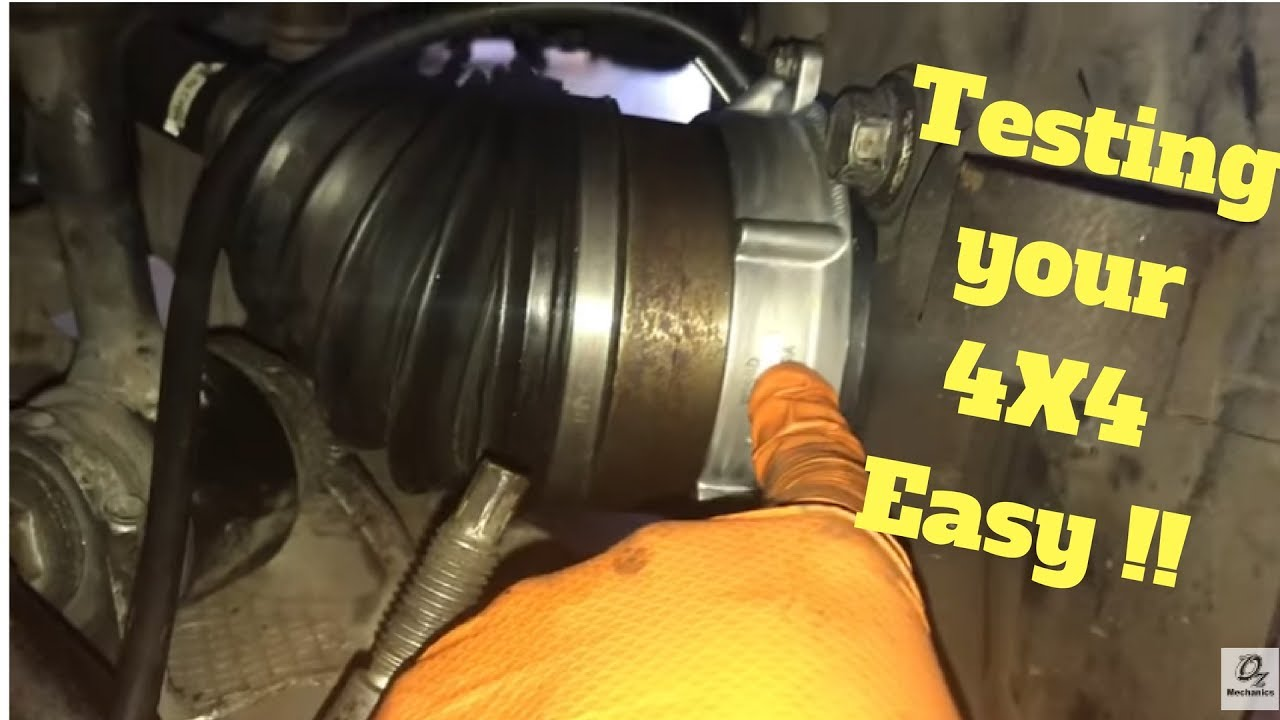 DIY How to test 4WD vacuum actuator  YouTube