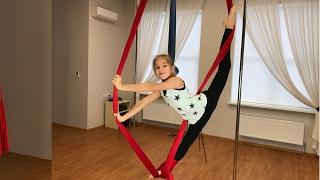 Aerial gymnastics. Aerial Silks tutorial