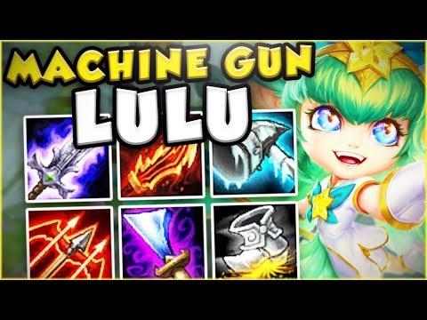 THIS PERMASLOW MACHINE GUN LULU IS SO STUPID! MACHINE GUN LULU TOP GAMEPLAY! - League of Legends