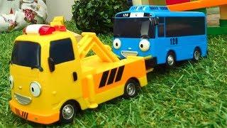 Видео для детей 🚌 ТАЙО Маленький Автобус поломался! Чиним #машинки в Мастерской Марка 🔧 #ИгрыГонки