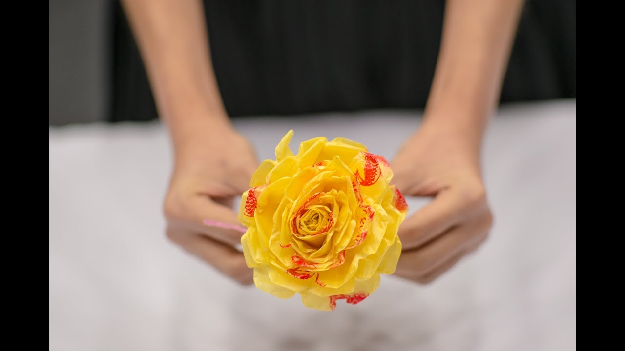 How to make we love sg flowers standard size used plastic bag how to make we love sg flowers standard size used plastic bag youtube izmirmasajfo