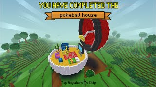 Block Craft 3D : Building Simulator Games For Free Gameplay#366 (iOS & Android) | Pokeball House 🏠