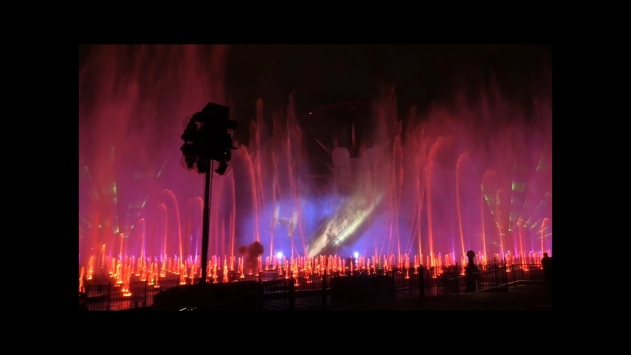 World of Color logo projected by lasers Disney California Flickr