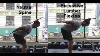 Basic Hip Hinge Exercise with Dowel