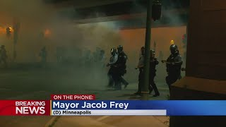 Minneapolis Mayor Speaks With WCCO As Unrest Reaches Overnight Hours