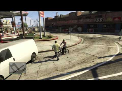 Grand Theft Auto V - Hood safari: CJ, Ryder & Sweet GTA San Andrea Cameos Sequence Easter Egg PS3