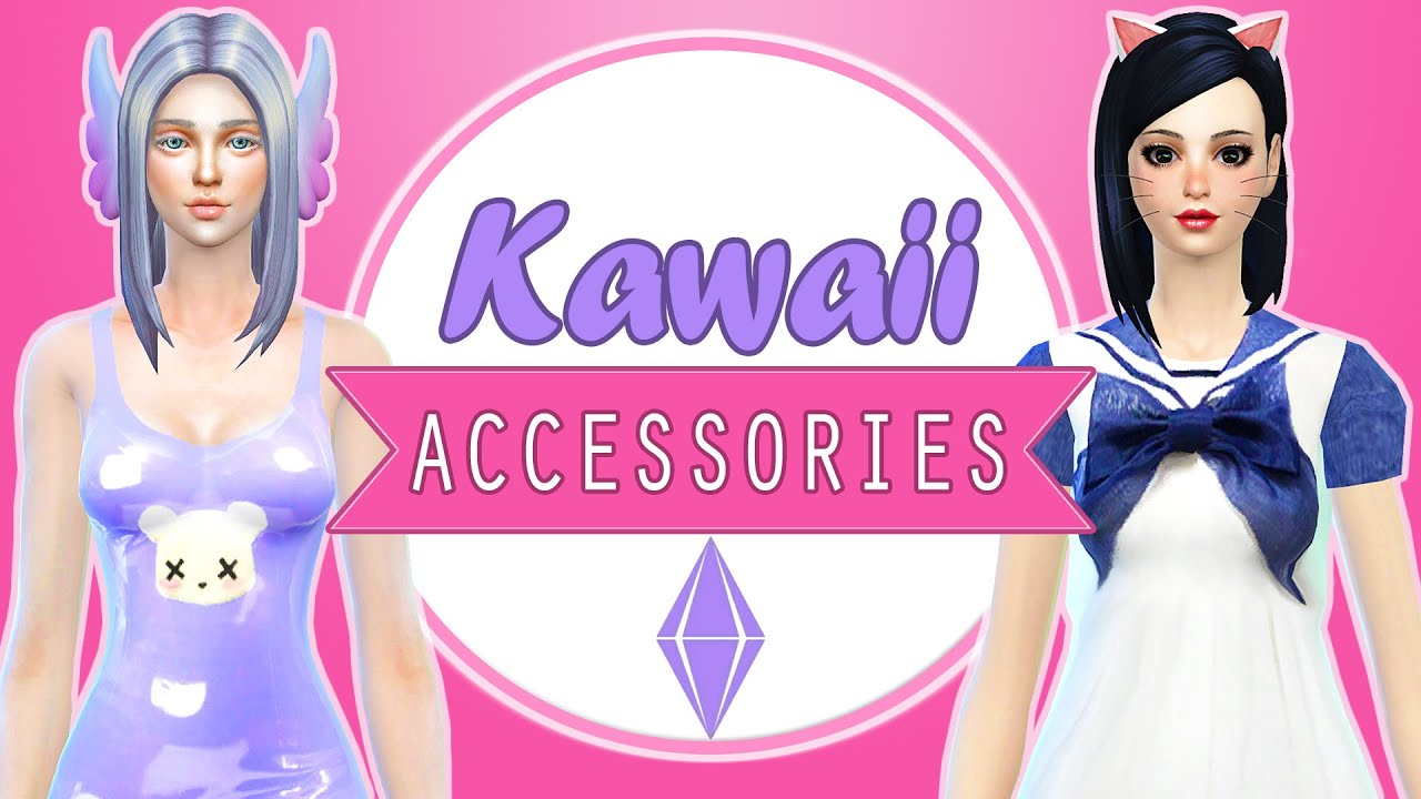 The Sims 4 Cc Finds 6 Kawaii Accessories Youtube
