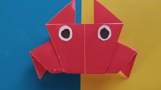КРАБ - Легкое Оригами для Детей и Начинающих. Видео