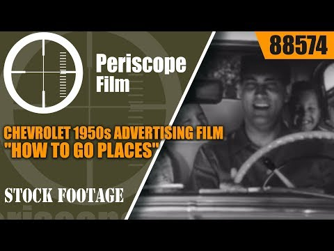 """CHEVROLET 1950s ADVERTISING FILM """"HOW TO GO PLACES"""" MAP READING 88574"""