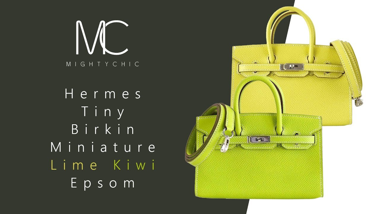 fd61ab860ba Hermes Birkin Bag Tiny Miniature Micro Lime • MIGHTYCHIC • - YouTube