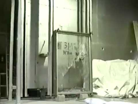 Security Window Film >> 3M Safety and Security Film small missile impact test - YouTube