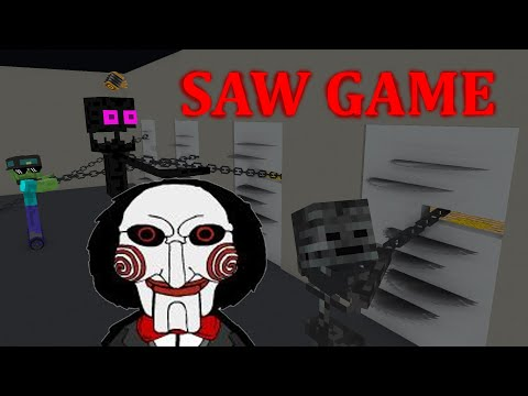 Monster School: The SAW Challenge - Minecraft Animation