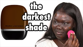 Marc Jacobs Shameless Foundation Review || Nyma Tang #thedarkestshade