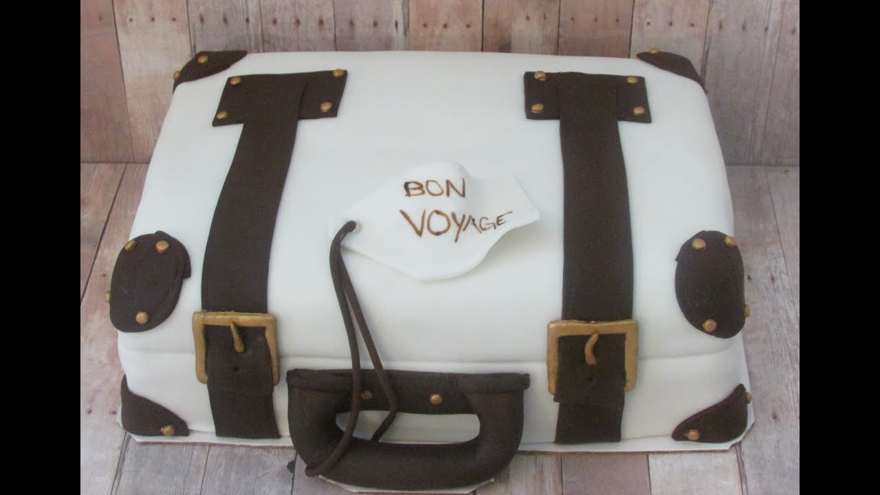 Vintage Luggage Cake Youtube