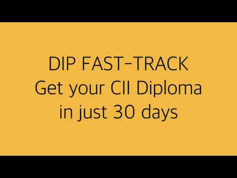 Wiser Academy Dip Fast-Track - CII Diploma in just 30 days