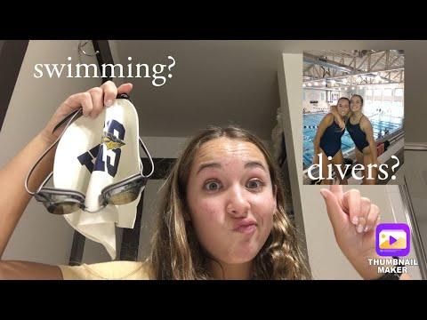 Divers Take On A Swim Meet