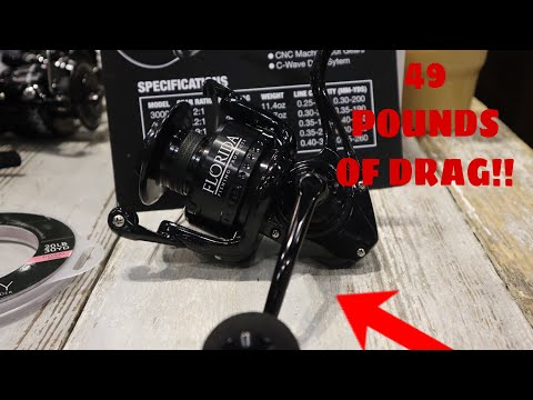 ICAST 2019- This REEL Has 49 POUNDS OF DRAG -Florida Fishing Products Osprey 8000