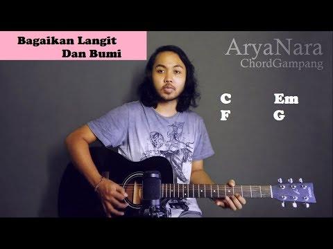 Chord Gampang (Bagaikan Langit Dan Bumi - Via Vallen) By Arya Nara (Tutorial Gitar) Untuk Pemula