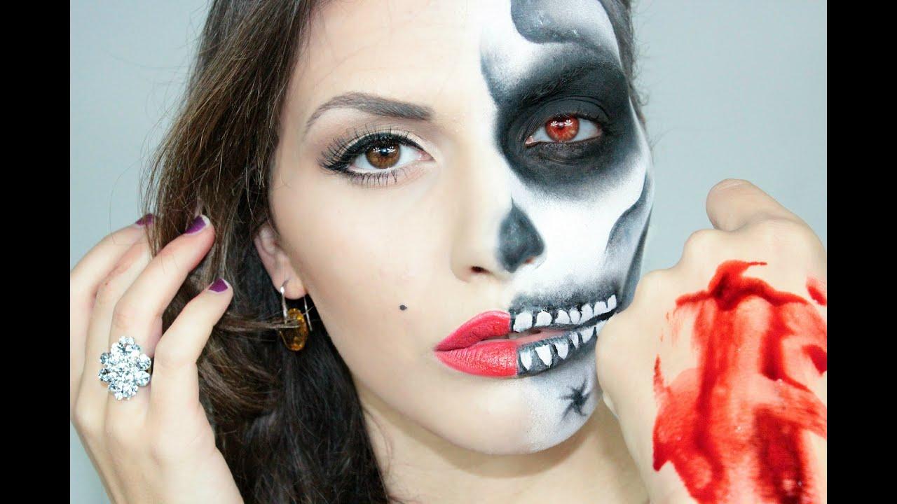 Conosciuto Make up Tutorial Marilyn Monroe Skull - Halloween 2012 - YouTube FE88
