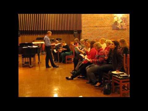 Peter Miller Rehearsing Decatur OPUS Choir Women's Sections on 1/24/17