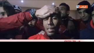 شـاهد فرحة بادو زاكي مع لاعبي الشباب