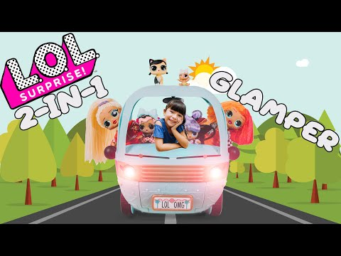 LOL SURPRISE 2-in-1 GLAMPER   UNBOXED with EXCLUSIVE DOLL #LOLSURPRISE