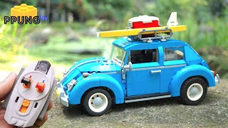 figcaption LEGO Creator 10252 RC motorized Volkswagen Beetle by 뿡대디