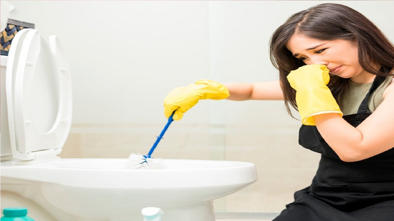how to get rid of ammonia smell in bathroom - YouTube