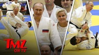 Vladimir Putin Hits the Judo Mats with Russian Olympic Babe | TMZ TV