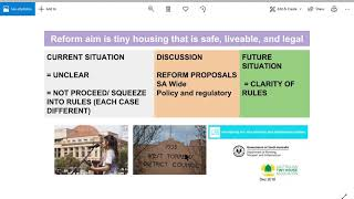 Tiny House Reform Overview in South Australia 15_12_2018