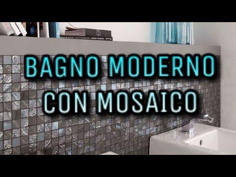BAGNO MODERNO CON MOSAICO - YouTube