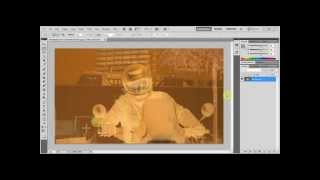 How to convert a photo negative into a color photo using Photoshop tutorial