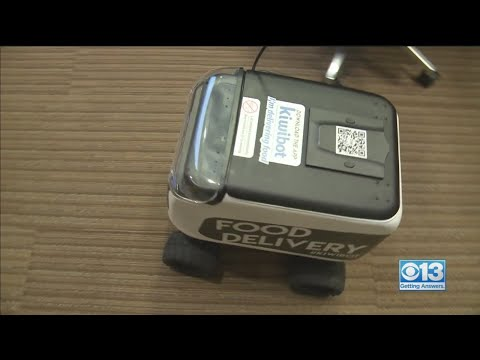 Robot Food Delivery Showcased In Sacramento