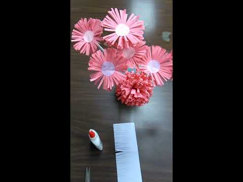 How to made easy awesome paper flower | Diy beautiful paper  rosettes flower |