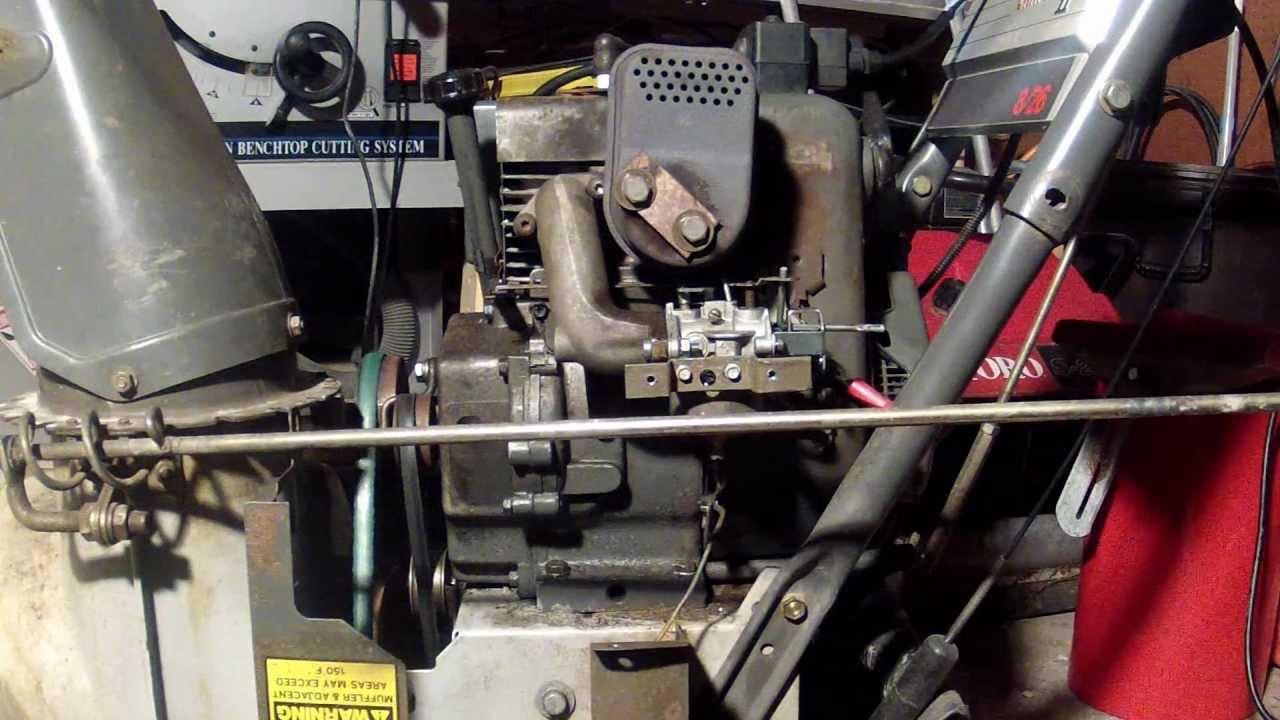 tecumseh 8 hp carburetor diagram 240v plug wiring hm80 engine part 16 - adjustment 2 youtube