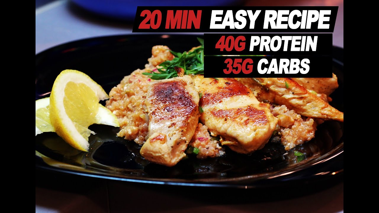 High protein low carb bodybuilding meal chicken with quinoa youtube high protein low carb bodybuilding meal chicken with quinoa forumfinder Image collections