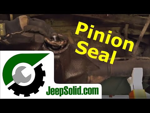 Pinion seal replacement Jeep Wrangler: Short cut method