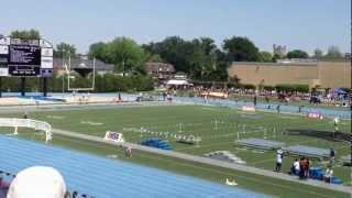 2012 IHSA 3A Girl State Semi-Finals heat 1 4x100m