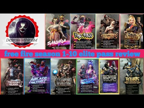 Free Fire Season 1-10 All Elite Pass Full Detail And Review Video