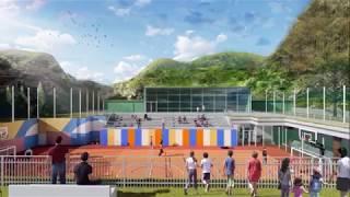 """Playground Bosch """"Allenarsi per il Futuro""""    Sport Center Acquasanta Terme (AP)"""