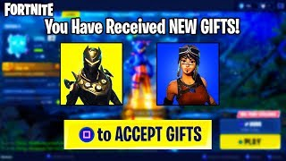 i received a gift on Fortnite... (NEW Gifting System)