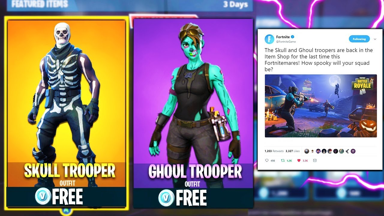 Epic Games Response To Skull Trooper Coming Back To Fortnite Youtube