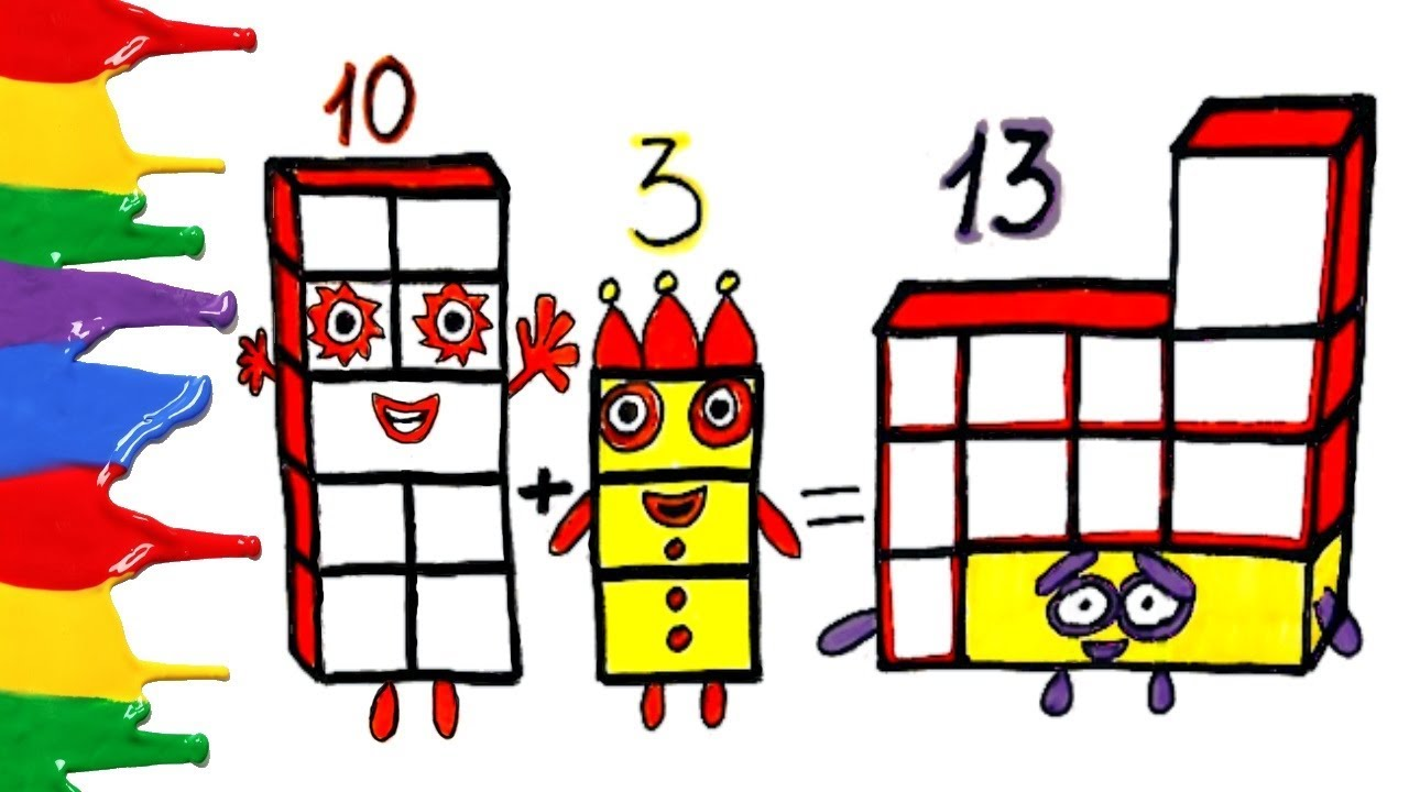 NUMBERBLOCKS 13 LEARN TO COUNT | NUMBERBLOCKS COLORING ...