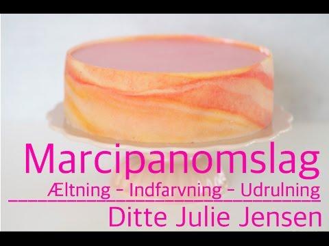 How To på æltning af marcipan, indfarvning og udrulning - Ditte Julie Jensen